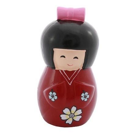 Skarbonka ceramiczna czerwona lalka 16 x 8 cm Wasabi Sushi Shop Wrocław Sklep Orientalny