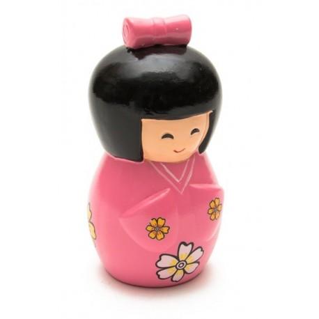 Skarbonka ceramiczna różowa lalka 16 x 8 cm Wasabi Sushi Shop Wrocław Sklep Orientalny