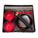 Zestaw do sushi Red Flower - 12 częściowy