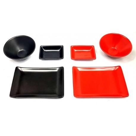 Zestaw do sushi Black&Red dla 2 osób Wasabi Sushi Shop Wrocław Sklep Orientalny