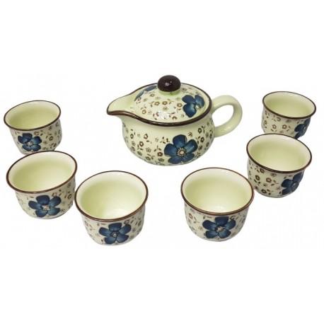 Zestaw do herbaty dla 6 osób Mini Blue I Wasabi Sushi Shop Wrocław Sklep Orientalny