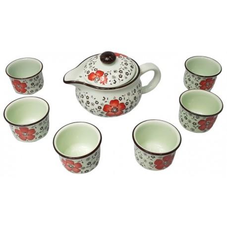 Zestaw do herbaty dla 6 osób Mini Red Wasabi Sushi Shop Wrocław Sklep Orientalny