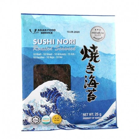 Algi morskie Yaki Sushi Nori Silver 10 arkuszy 25 g
