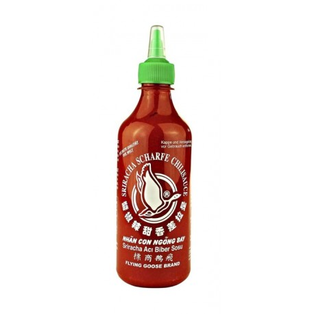 Sos chili Sriracha 455 ml - bardzo ostry (chili 61%) Wasabi Sushi Shop Wrocław Sklep Orientalny