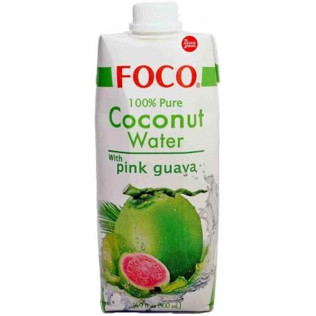Woda kokosowa z puree z guawy różowej 500 ml Sklep Wasabi Sushi Shop Wrocław produkty i akcesoria do sushi i kuchni orientalnej