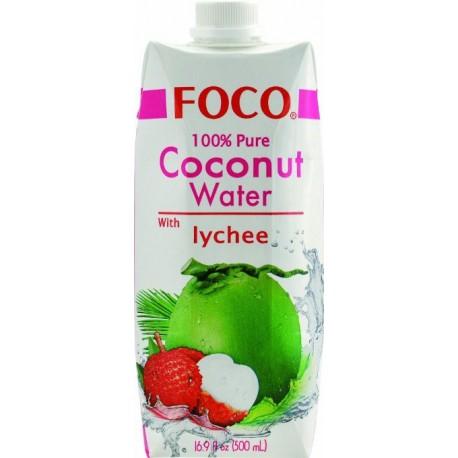Woda kokosowa z sokiem z liczi 500 ml Sklep Wasabi Sushi Shop Wrocław produkty i akcesoria do sushi i kuchni orientalnej