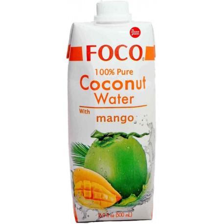 Woda kokosowa z puree z mango 500 ml Sklep Wasabi Sushi Shop Wrocław produkty i akcesoria do sushi i kuchni orientalnej