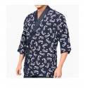 Kimono kucharskie granatowe XL wzór krewetki