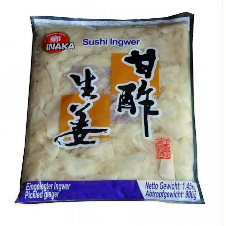 Imbir marynowany biały 1,45 kg Sklep Wasabi Sushi Shop Wrocław produkty i akcesoria do sushi i kuchni orientalnej