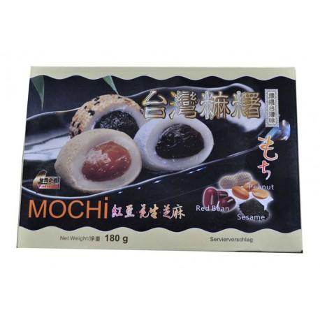 Mochi kulki ryżowe z orzeszkami ziemnymi, sezamem i czerwoną fasolą fasola 180 g Wasabi Sushi Shop Wrocław