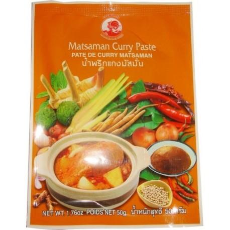 Pasta curry Massaman / Matsaman 50 g Sklep Wasabi Sushi Shop Wrocław produkty i akcesoria do sushi i kuchni orientalnej