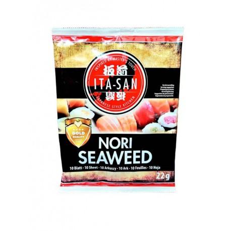 Algi morskie Yaki Sushi Nori Gold Ita-San 10 ark. 22 g Wasabi Sushi Shop Wrocław Sklep Orientalny