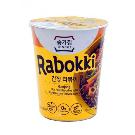 Łagodna zupa w kubku Ganjang Rabokki z sosem Teryiaki 82 g