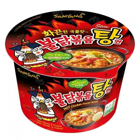 Koreańska zupa  danie w kubku Ramen mega ostry gulasz kurczaka SamYang 120 g Wasabi Sushi Shop Wrocław Sklep Orientalny