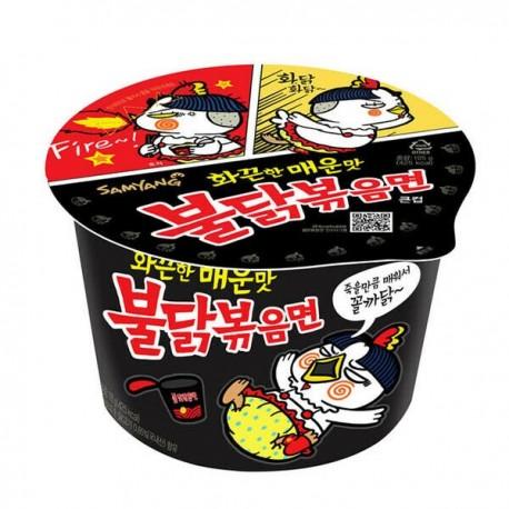 Koreańska zupa  danie w kubku Ramen Big Bowl mega ostry kurczak SamYang 105 g Wasabi Sushi Shop Wrocław Sklep Orientalny