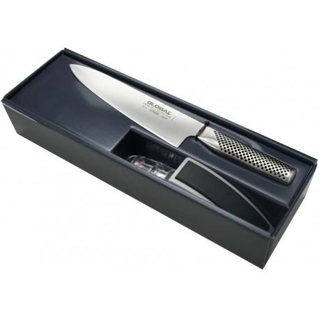 Japoński nóż Szefa kuchni Global G-2 + ostrzałka MinoSharp G-2220GB Wasabi Sushi Shop Wrocław Sklep Orientalny