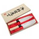 Japońskie noże Satake Megumi zestaw Santoku + Nakiri