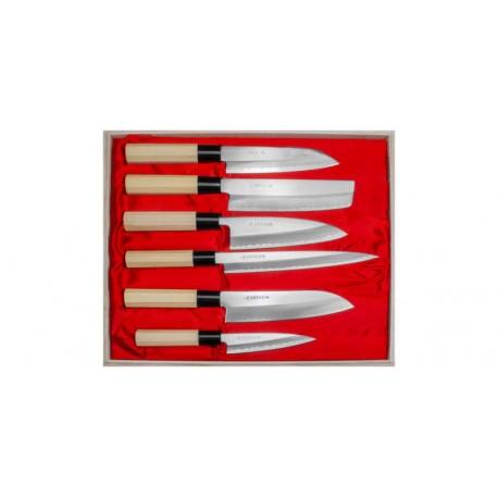 Japońskie noże Satake zestaw 6 noży Yoshimitsu Wasabi Sushi Shop Wrocław Sklep Orientalny