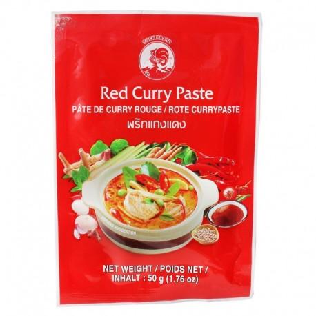 Pasta curry czerwona Cock 50 g Sklep Wasabi Sushi Shop Wrocław produkty i akcesoria do sushi i kuchni orientalnej