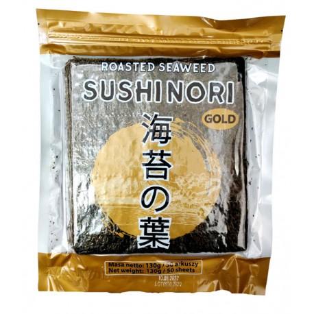 Algi sushi nori Gold 130 g 50 ark Nobi Sklep Wasabi Sushi Shop Wrocław produkty i akcesoria do sushi i kuchni orientalnej
