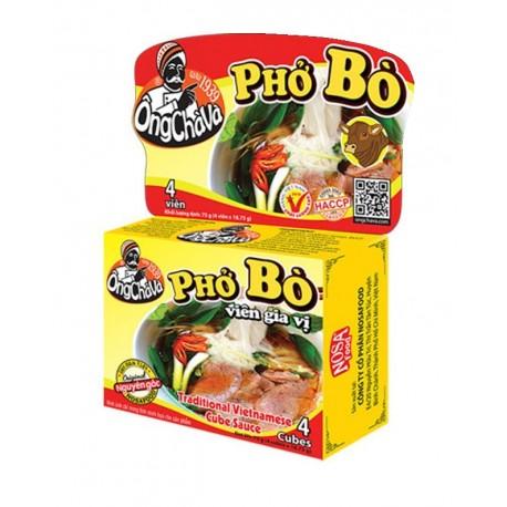 Kostki bulionowe wołowe do zupy Pho Bo 75 g, 4 kostki Wasabi Sushi Shop Wrocław Sklep Orientalny