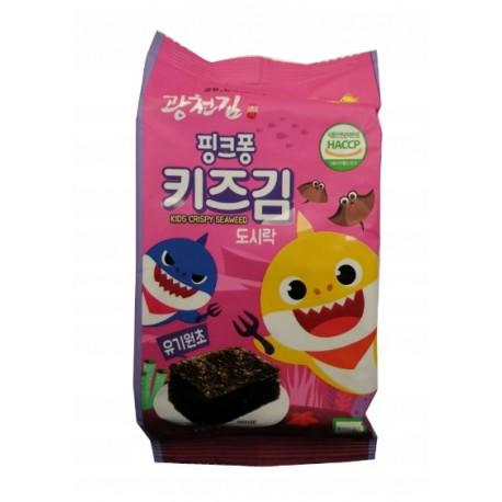 Algi chipsy nori dla dzieci Pink Fong 4 g Sklep Wasabi Sushi Shop Wrocław produkty i akcesoria do sushi i kuchni orientalnej