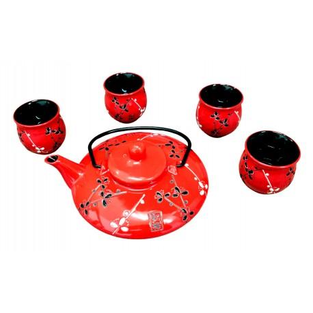 Zestaw do herbaty Red Flower Wasabi Sushi Shop Sklep Orientalny Wrocław