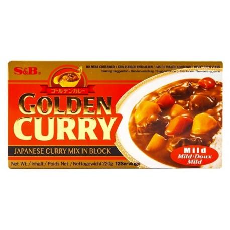 Japońskie Golden Curry Mild (łagodne) 220 g S&B 12 porcji Sklep Wasabi Sushi Shop Wrocław produkty i akcesoria do sushi i kuchni