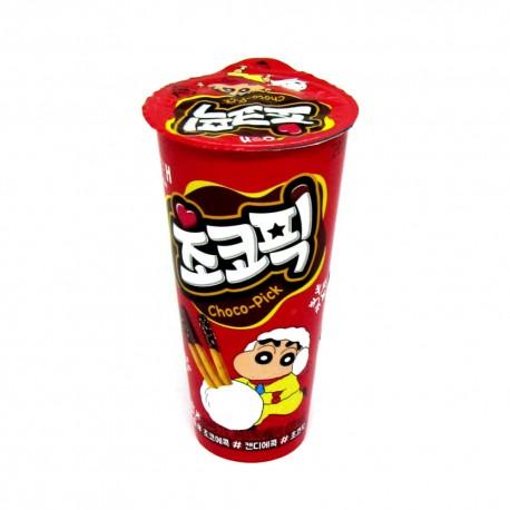 Koreańskie paluszki Choco Pick z czekoladą i posypką 45 g Haitai Wasabi Sushi Shop Wrocław Sklep Orientalny