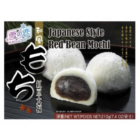 Mochi kulki ryżowe Red Bean Fasola Adzuki 210 g Yuki & Love Wasabi sushi Shop Sklep Orientalny Wrocław