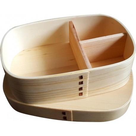Drewniany pojemnik Bento Box (lunchbox) prostokąt Wasabi Sushi Shop Wrocław Sklep Orientalny